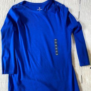 NWT Lands' End Boat Neck 3/4 Sleeve Shirt
